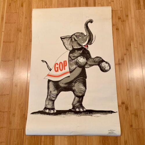 Rare GOP ELEPHANT 1967 Original POSTER REPUBLICAN NATIONAL COM 23x37 Political