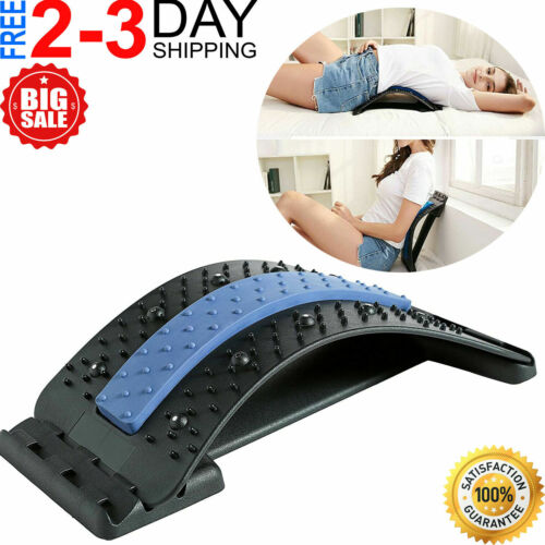 Back Stretcher Lumbar For Pain Relief, Spine Deck Massager THerapy