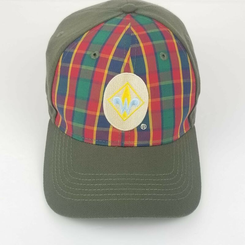 Boy Scouts of America WEBELOS Cub Scout Flex Hat Cap, Plaid Front