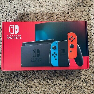 Brand new! Nintendo Switch Console Neon Blue & Red Joy‑Con (V2) - Free Shipping!