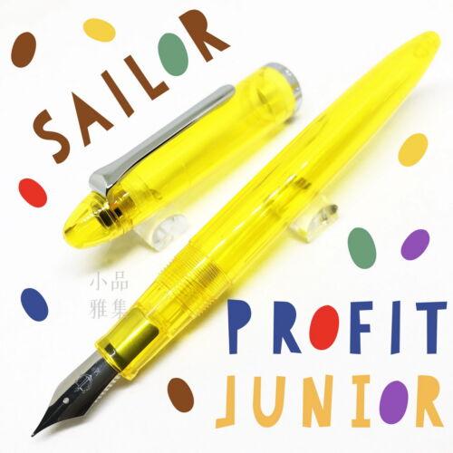 Sailor Profit Junior Yellow Demonstrator Fountain Pen