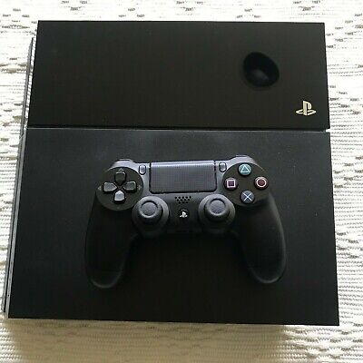 Sony PlayStation 4 PS4 500GB Console Jet Black w/ Controller, Cables