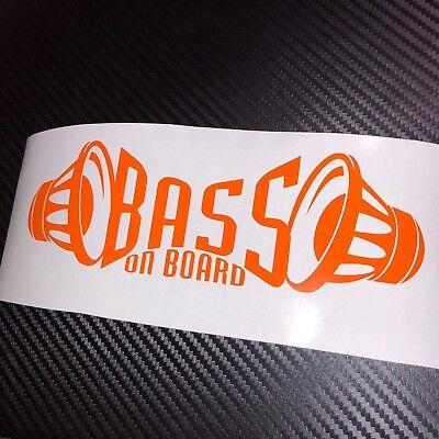 ORANGE BASS on board Car Sticker Decal Graphic VDUB Drift JDM ICE SPL Subwoofer