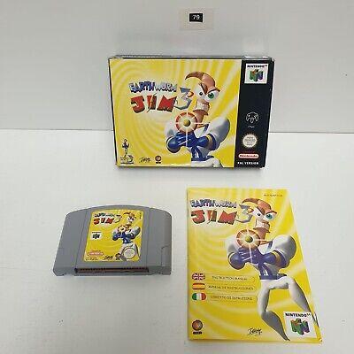 Earth Worm Jim 3D 3 Nintendo 64 N64 game PAL BOXED + Manual seller Oz79