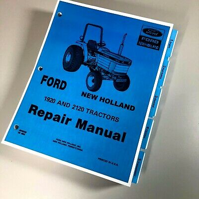 Ford New Holland 1920 2120 Tractor Service Repair Manual Se-4603 Print Version