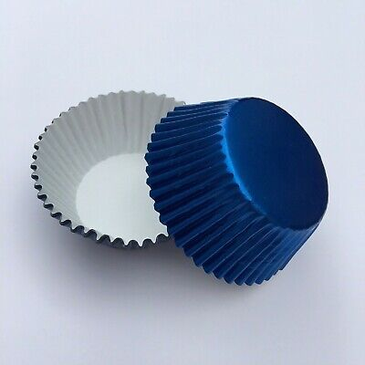 Royal Blue Cupcake Liners (Foil Cupcake Baking Liner 50 ct - Royal)