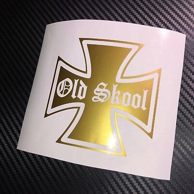 GLOSS GOLD Old Skool Car Sticker Decal Retro 70's 80's Hot Rod Custom Classic