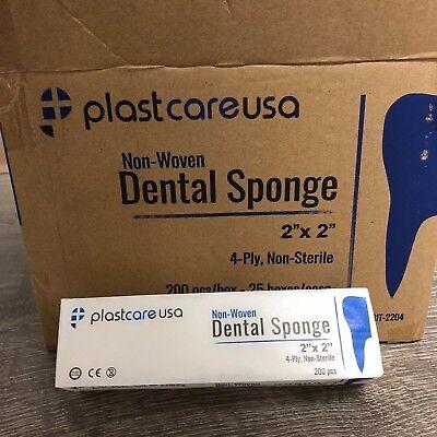 5000 2x2 Non Woven Sponges 4-Ply, Non-Sterile Cotton Dental Gauze (1 Case)