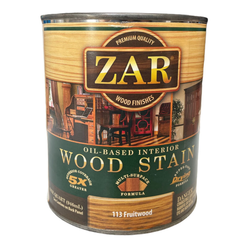 Zar Wood Stain Fruitwood Oil Based Interior 1 Quart