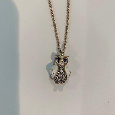 Kate Spade New York Star Bright Owl Mini Pendant Necklace pave