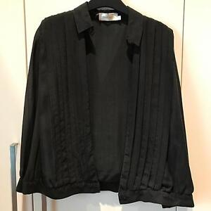 ZIMMERMANN Black Sheer Panel Long Sleeve Blouse Size 0 / XS Pagewood Botany Bay Area Preview