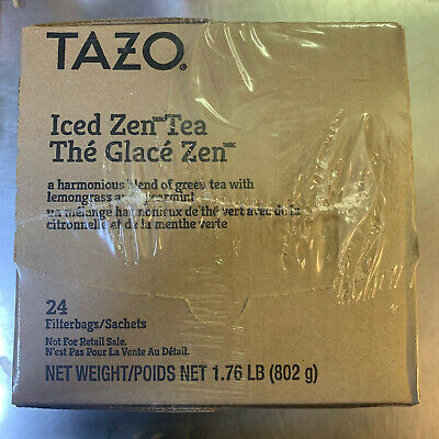(24) Tazo Starbucks ICED ZEN TEA Filterbags makes 1Gal Green Lemon Spearmint