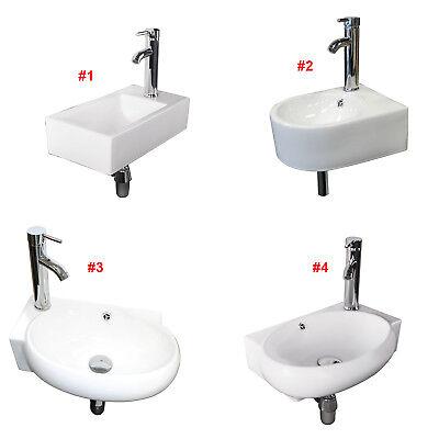 Corner Sink - Right/Left Corner Wall Mount Sink Toilet Porcelain Make up No Need Bracket White
