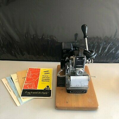 Kingsley M-75 Hot Foil Stamping Embossing Machine - Pre-owned - Not Tested - A