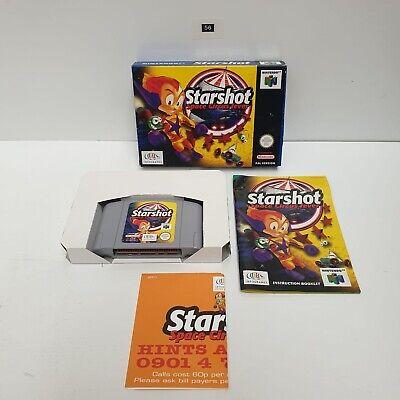 STARSHOT SPACE CIRCUS FEVER NINTENDO 64 N64 PAL RARE Boxed + Manual+ Promo Oz56