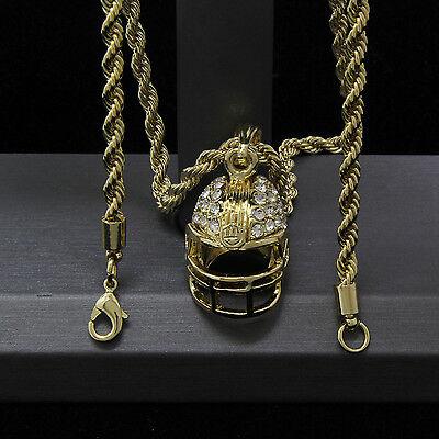 Mens Gold Plated Hip-Hop Football Helmet Pendant 24