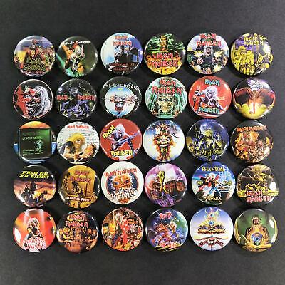 IRON MAIDEN BIG Metal Pin Badge punk rock n roll heavy hard thrash
