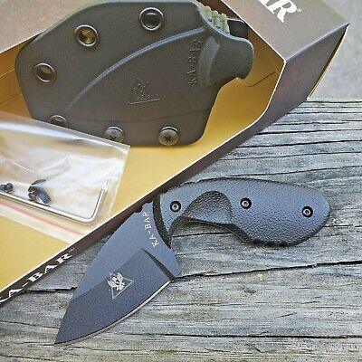 "KA-BAR TDI Investigator Fixed Knife 2.75"" AUS-8A Steel Blade Black FRN Handle"