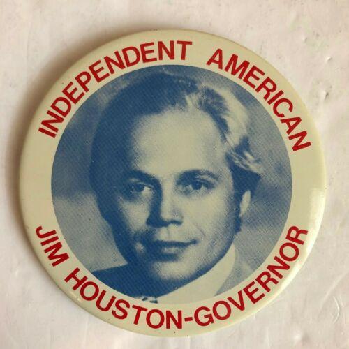 "James Ray ""Jim"" Houston 1974 For Nevada Governor Political Button"