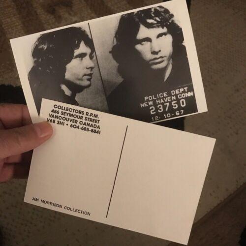 """JIM MORRISON ARREST PHOTO POST CARDS (2) 6""""X4"""""""
