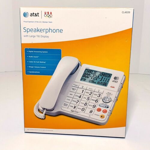 AT&T CL4939 Large Display Corded Phone Big Button Answering Machine BRAND NEW