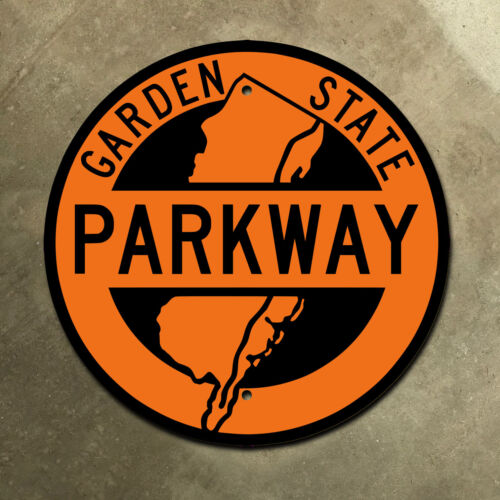 New Jersey Garden State Parkway highway marker road sign orange construction