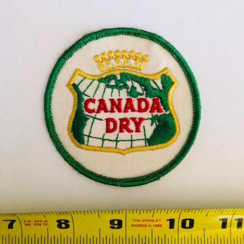 Vintage patch CANADA DRY GINGER ALE rare round 1970