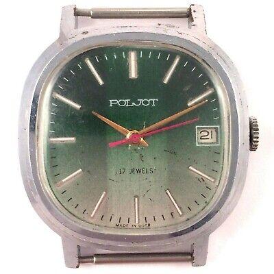 Vintage Soviet Poljot windup watch USSR 70's Serviced Cal 2614.2H *IN USA*#1176