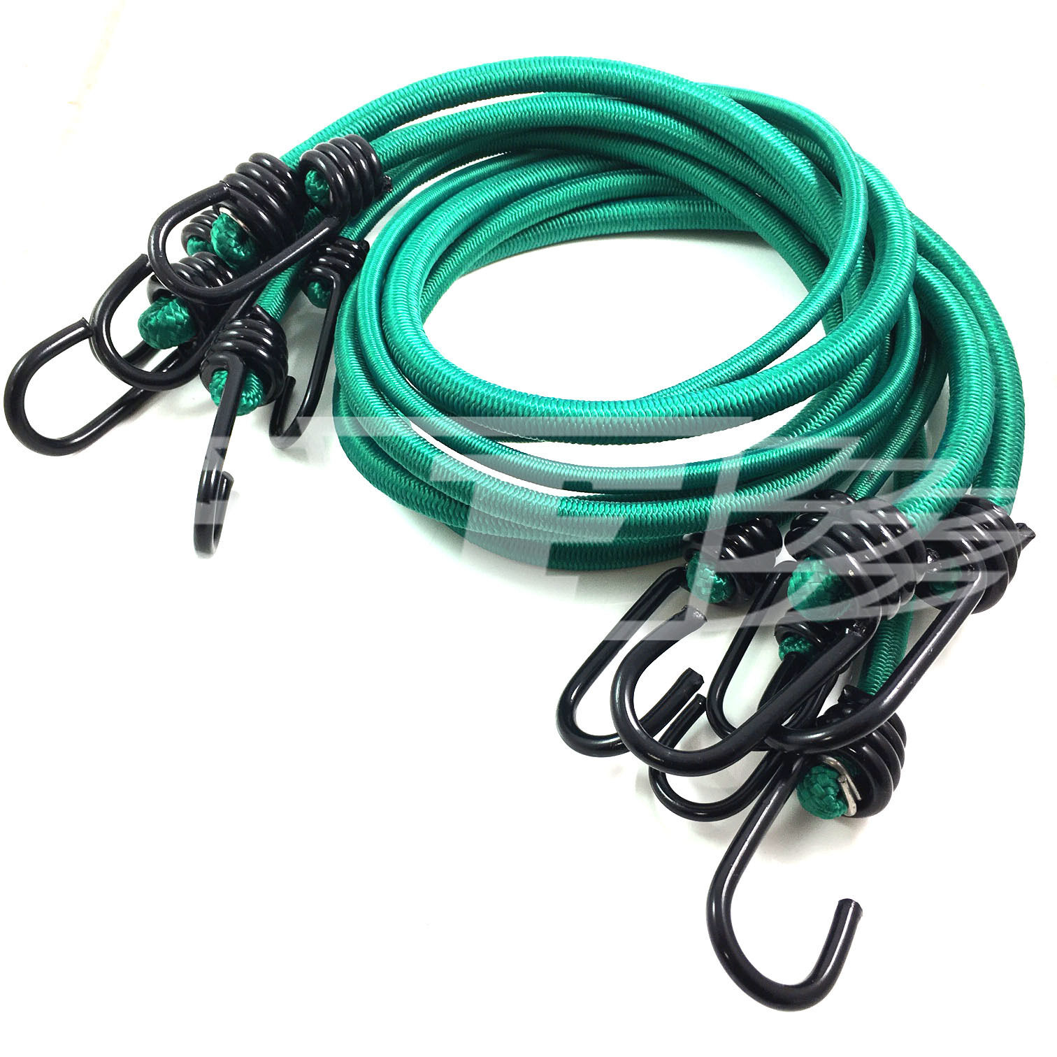 WHITE LUGGAGE ELASTICS BUNGEE STRAPS SHOCK CORD METAL SPIRAL HOOK ENDS ARMY