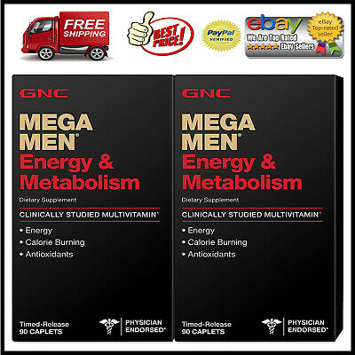 GNC Mega Men Energy & Metabolism Multivitamins - 180 ct. *BEST