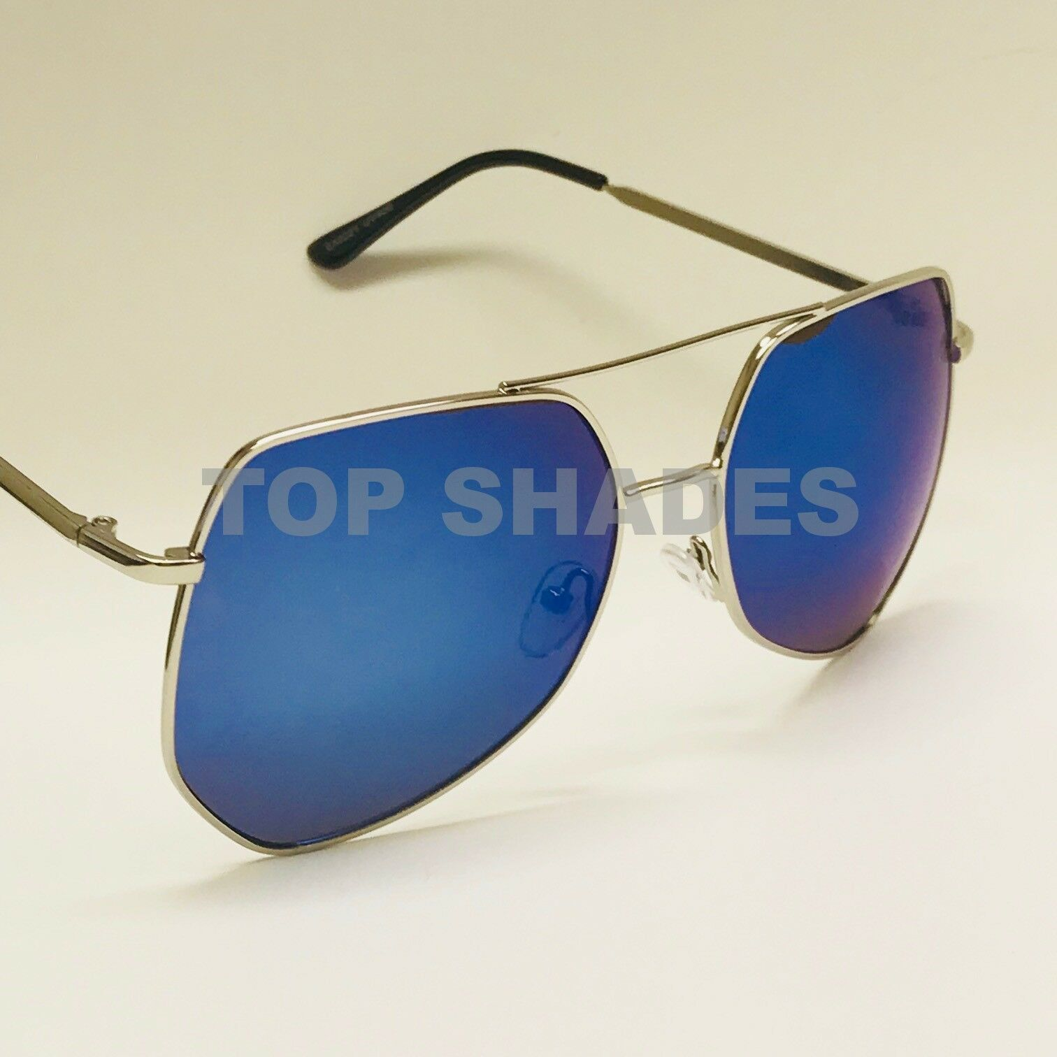 Fashion Designer Oversized Aviator Metal Square Women Men 20