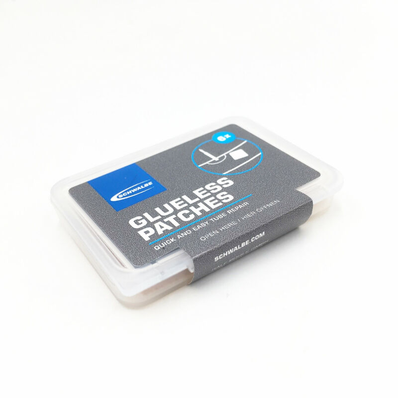 Schwalbe Glueless Patches Pack of 6 Clear - Bicycle Puncture Repair Kit
