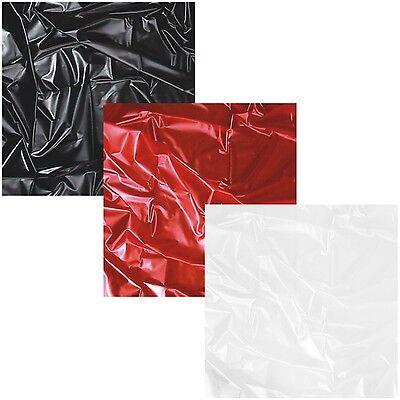 SexMAX WetGAMES LACK LATEX PVC Laken Bettlaken Spielwiese Schwarz / Rot / Weiß  (Spielen Sex)