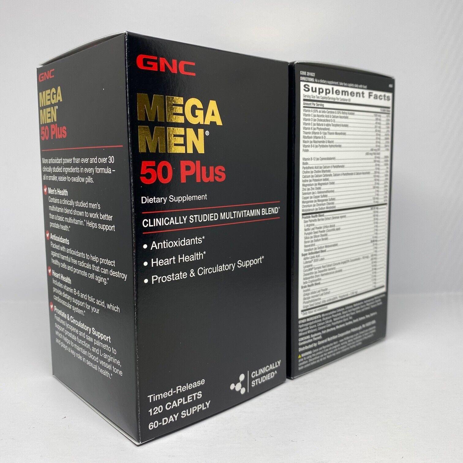 GNC Mega Men 50 Plus 120 Caplets  Free Shipping 5