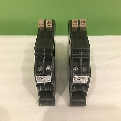 2 New Cutler Hammer Cht2020 1 Pole 2020a 120v Tandem Circuit Breakers Freeship