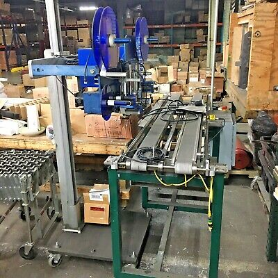 Label Mill 4005 Dynamic Label Applicator - Twin Head With Conveyor