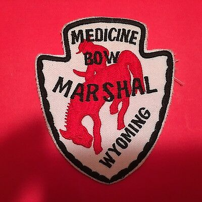 MEDICINE BOW WYOMING  MARSHAL SHOULDER PATCH  USED OLD