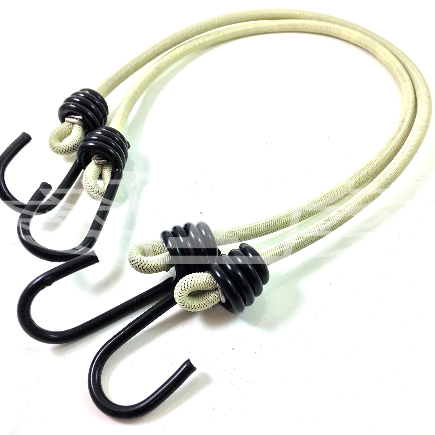 PACK OF 10 6mm x 90cm LONG NATO GREEN BUNGEE CORDS MILITARY ARMY BASHA STRAPS