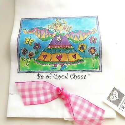 Decorative Hand Towel Guest Towel Be Of Good Cheer Angel New with Tag ()