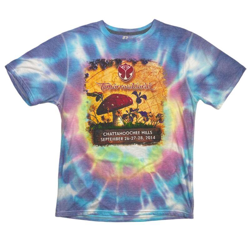 2014 TomorrowWorld Atlanta EDM Music Festival Tie Dye T-Shirt Large