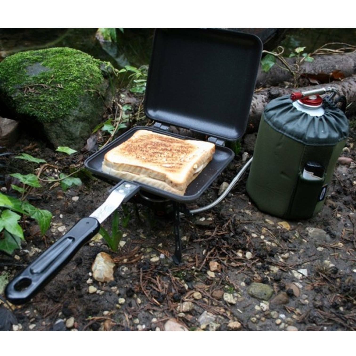Ngt ancienne sandwich grille-pain tostie sable wich maker carp fishing tackle camping