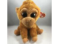 TY Beanie Baby - MWMT/'s Stuffed Animal Toy 6 inch MONROE the Orangutan