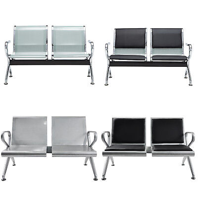 2-seat Chair Garden Salon Barber Airport Reception Waiting Room Bench