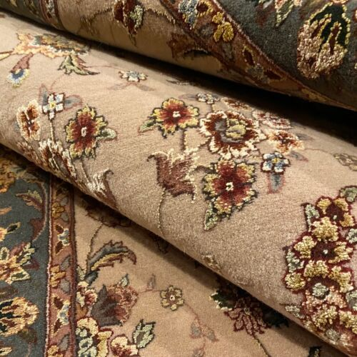 New Handmade Chinese Floral Oriental Accent Rug, Fine Quality Silk & Wool, 4x7