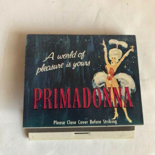 Primadonna Casino Reno Nevada Matchbook