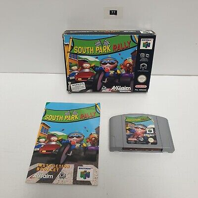 South Park Rally Nintendo 64 N64 Game PAL BOXED Complete + Manualseller Oz77