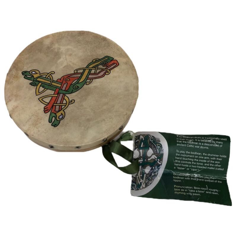 Celtic Drum Roundstone Bodhran Music Wood 8 inches Goatskin Irish Ireland