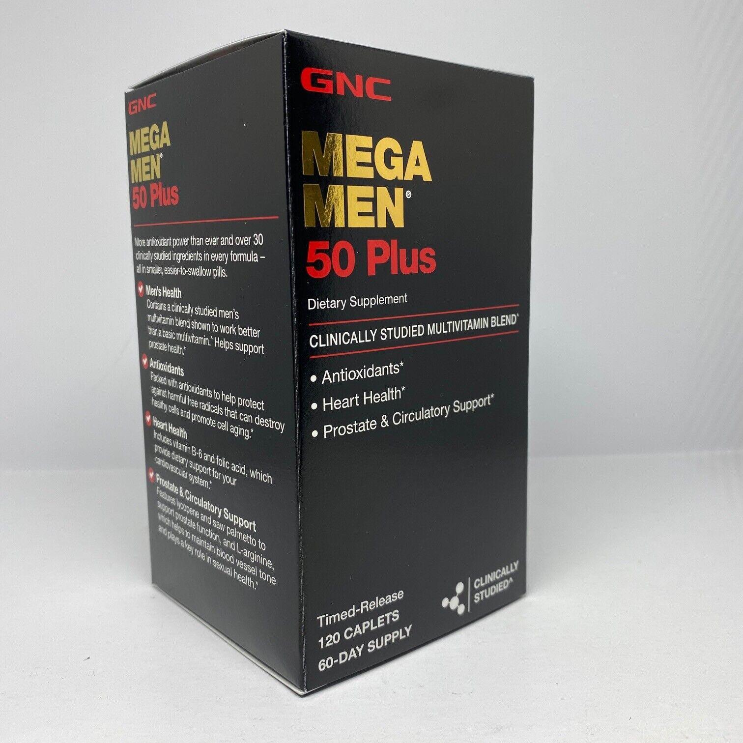GNC Mega Men 50 Plus 120 Caplets  Free Shipping 4