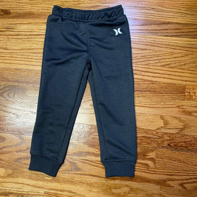 Hurley Girls Boys One & Only Youth Logo Joggers Charcoal Gray 3T NWOT