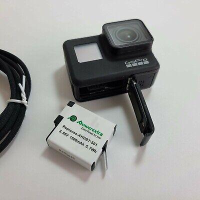 GoPro HERO7 Black 12 MP Bundle 4K Camera Camcorder *NICE** VERY GOOD CONDITION